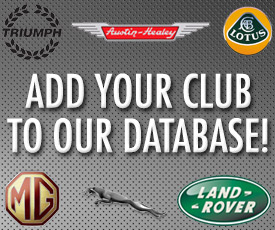 Add Your British Car Club to Our Database!